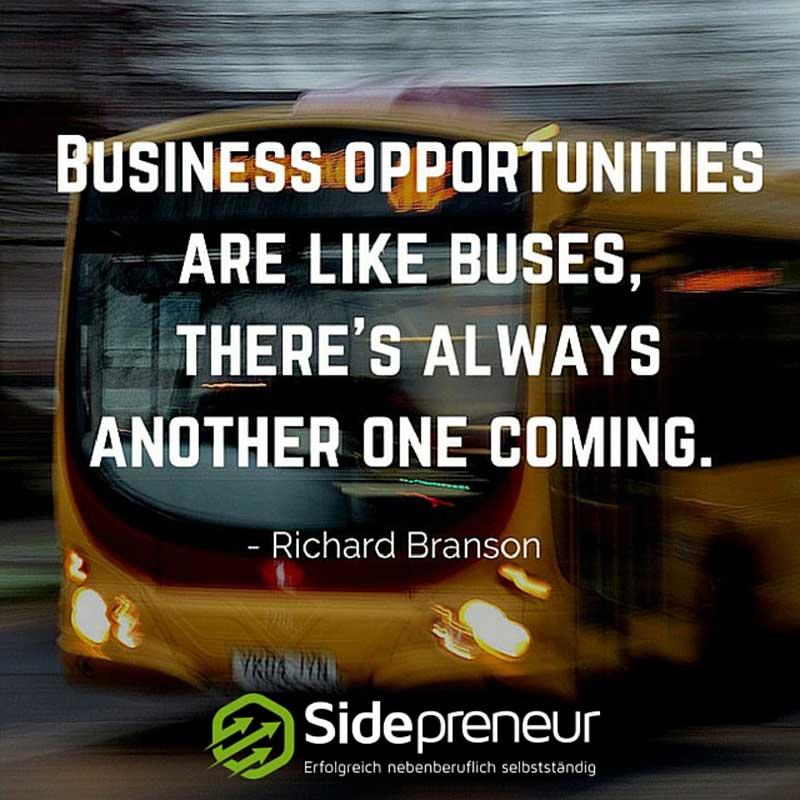 Podcast: Businessmöglichkeiten sind wie Busse